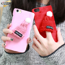 KISSCASE Cute Plush Phone Cases For Xiaomi MI5 Case For Redmi 4 Pro Cover Lovely 3D Hat Hard Plastic Mobile Phone Accessories(China)