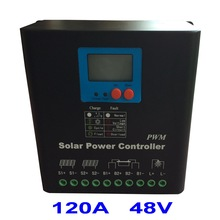 Electronic 2017 New 120A 48V Solar Controller LCD Display Solar Panel Battery Charge Controller 48V 120amp Solar Controller