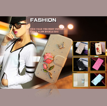 20 styles Leather Flip Cover for Samsung Galaxy S3 mini i8190  Bling 3D flip diamond PU skin wallet