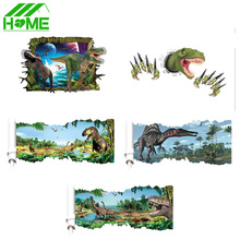 3D Cartoon Dinosaur DIY Wall Stickers Home Decor Art For Bedroom Kids Living Room Sticker Decoration Decals Rooms Accessories