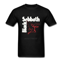 Fashion Summer New Heavy Metal T Shirts Mens Black Sabbath Paranoid Tee Shirts Cotton Top Short Sleeve t shirt Plus Size XS-XXL