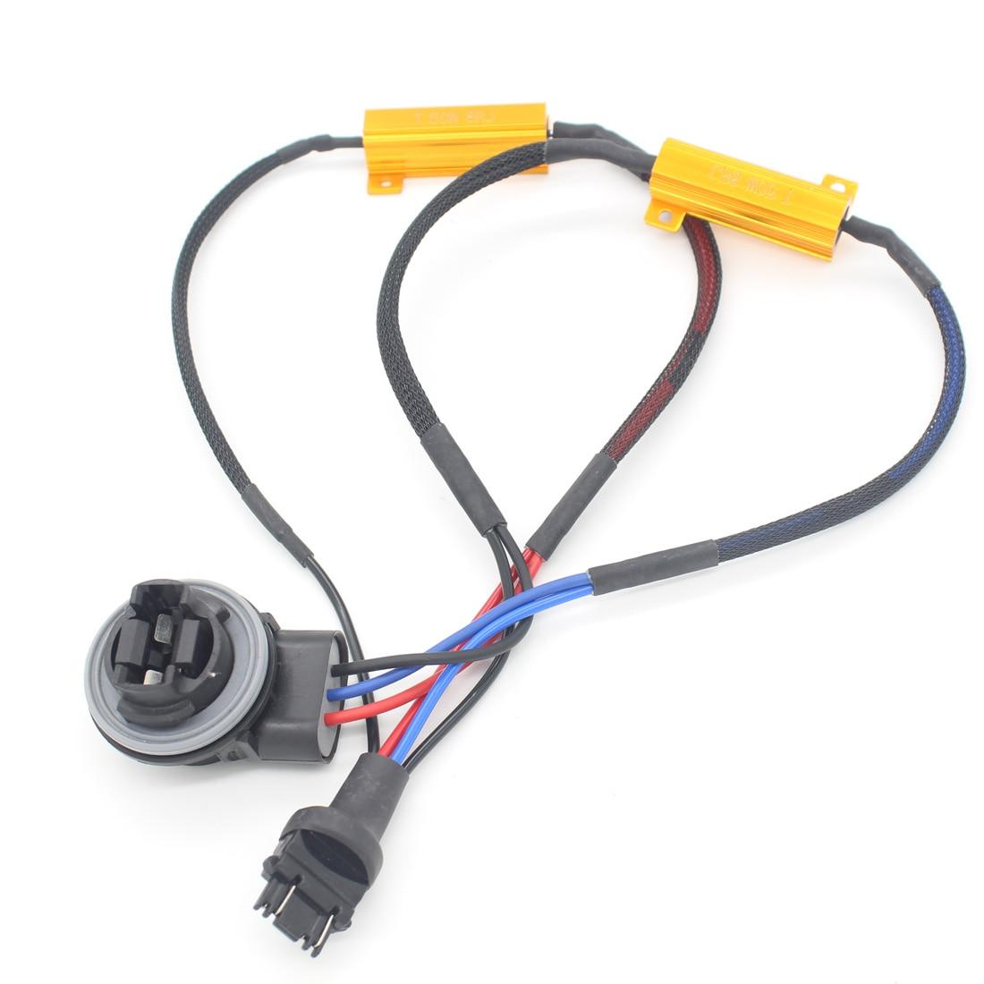 Car LED T25 3157 Brake Lights Singal Load Resistor LED Bulb Fast Hyper Flash Turn Signal  Wiring Canceller Decoder w124 w204<br><br>Aliexpress