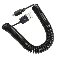 Spiral Coiled USB 2.0 A Male to Micro USB B 5Pin Adaptor Spring Cable 2.5-3m cable length