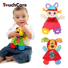 Newborn Cute Cartoon Animal Hand Bells Plush Baby Rattles Infant Playmate Doll Teether Development Kids Toys Gift Christmas Toys