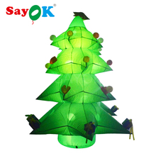 Inflatable Christmas Tree Decor 3m/10ft High with LED Light Outdoor Christmas Decorations for Home Store Mall Decoration