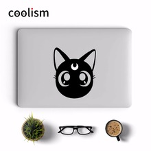 Sailor Moon Cat Luna Anime Laptop Sticker for Apple Macbook Decal Pro Air Retina 11 12 13 15 inch Mi Mac Notebook Skin Stickers(China)