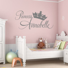 2017 Wall Stickers Home Decor Princess Annabelle Home Room Decals Girls Living Wall With Crown Murals Cute Carton Bed Stickers