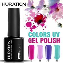 Huration Lucky Gel Lacquer Nail Polish Soak Off 8ml Colorful Pure 29 Color UV Gel Nail Polish Semi Permanent Nails Varnish(China)
