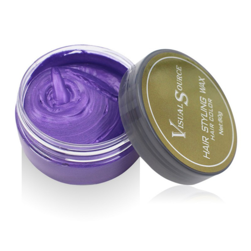 Professional Dynamic Modeling Hair Wax Makeup 5 Colors Hair Dye Wax Hair Color One-time Molding Paste Color Hair Wax New 2018 14