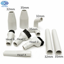 10pcs White 32mm/35mm Vacuum Cleaner Kit Soft Dusting Brush + Adaptor Connector Tool Replacement(China)