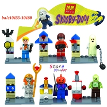 6pcs star wars super heroes marvel Bela Scooby Doo Fred/Shaggy building blocks action figure sets model bricks toys for children