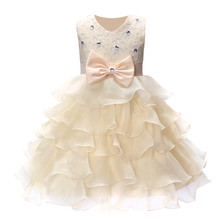 QZ-491 New Year Wedding Dress Princess Girls Formal Ball Gown Flower Children's Clothing Children's Clothing Party Girl Dresses