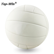 White 5# Size Weight Soft PVC Leather Official Volleyball Game Match Handballs Beach Outdoor Indoor Compitition Training Balls