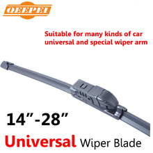 14'' - 28''inch Universal  Wipers Top Quality Silicone Rubber Blade Soft Car Windshield Windscreen QEEPEI
