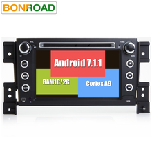 2 din Android 7.1.1 Car DVD Player for Sukuzi Grand Vitara Multimedia Car Radio Stereo GPS with Steering Wheel