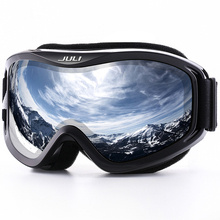 JULI Ski Goggles,Winter Snow Sports Snowboard Ski Mask with Anti-fog UV Protection Double Lens for Men Women Snowmobile Skating(China)
