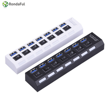 2 colors USB 3.0 Hub 4-7 Ports Super Speed 5Gbps 4-7-port USB 3.0 Hub With on/off Switch For Windows Mac OS Linux PC Laptop