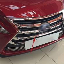 For Lexus NX200 NX300H 2015 2016 ABS Chrome Front Grille Around Trim Front Center Grill Grille Cover Trim Racing Grill Trim 7pcs