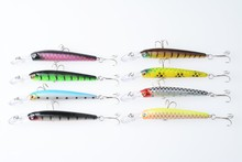 2016 fake fish fishing lures stick minnow 160pcs 10CM 6.8G-6# hooks hard plastic fishing lure minnow stock splitcane crank baits(China)