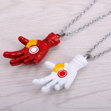 HSIC Hot movie Iron man hand shape Pendant&Necklace High Quality non-fading environmental Jewelry wonderful gift(China)