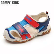 Comfy kids 2017 new arrivals summer child boys sandals shoes girls baby sandals fashion flat double hook loop shoes