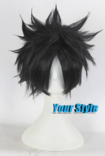 Japanese Naruto Uchiha Sasuke Cosplay Wig Synthetic Short Boy Pixie Cut Hairstyles Short Dark Wigs Male Peluca Hombre