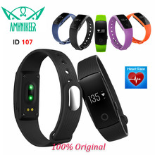 E-MI V05C ID107 Bluetooth 4.0 Smart Bracelet smart band Heart Rate Monitor Wristband Fitness Tracker for Android iOS Smartphone