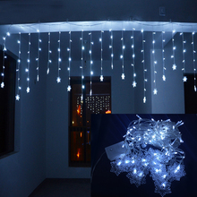LMID 4M*0.6M 120 LED Home Outdoor Holiday LED Christmas Decorative Wedding Xmas String Fairy Lights Curtain Garlands Strip Party(China)