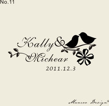 "Free Shipping Custom Logo Stamp ( 2.7"" x1.1"" )  Customized Clear Rubber Stamp bird stamps"