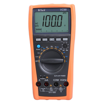 Auto Range Digital Multimeter Ammeter Voltmeter Temperature Tester Unit Symbol 61 Selection Analog Bar Display