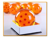 Dragon Ball Crystal Balls 7.5CM Big Size 1 2 3 4 5 6 7 Star Balls Classic Action Figures Toys New In Gift Box