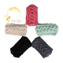 GOYIBA 6 Colors Women's Winter Solid Braided Crochet Knitting Knitted Headband Headwrap Ear Warmer Turban Hair Band Accessories