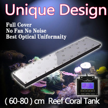 "Programmable aquarium lamp for 2ft /24""/60cm Coral Reef Marine tank Dimmable timer led lighting,controller sunrise sunset lunar"