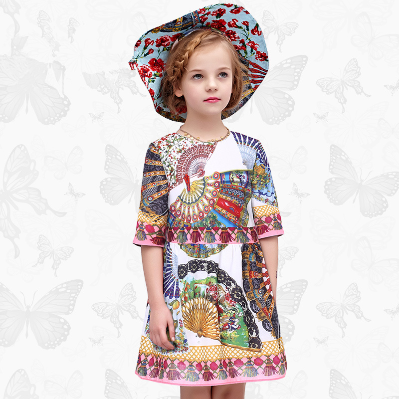 Girls Ortensia Dress with Handmade Dragonfly 2017 Brand Princess Dress Long Sleeve Robe Fille Clothes Kids Dresses 6<br>