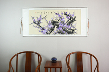 Large Scroll Painting by Numbers / Japan Purple plum flowers / Wall artwork home decor / Gifts