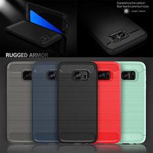 Real Carbon Fiber Brushed Soft Silicone TPU Shockproof Case Cover for Samsung Galaxy S6 S7 edge J5 7 J510 J710 Prime G530 C9 Pro
