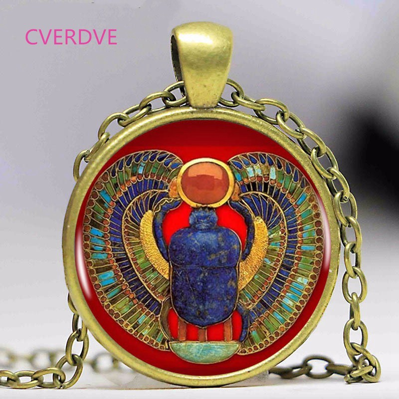 2018 Fashion Egyptian Scarab Necklace, ancient egypt jewelry Egypt necklace Egyptian jewelry For Women,3colors for choosing(China)
