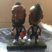 Soccerwe 2017 Series 6.5 CM Height Resin Basketball Star Doll Square Base RO 13 James Harden Figure Delicate Gift Black Kit(China)