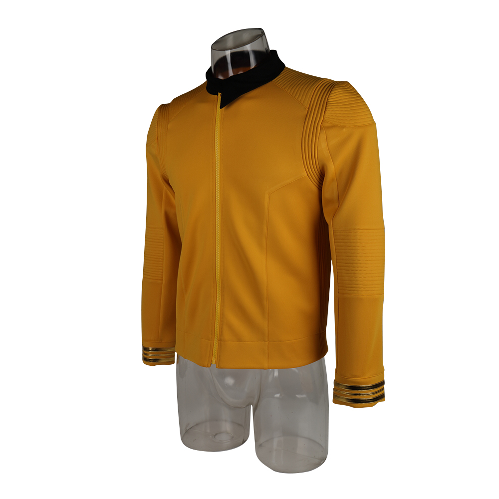 New 11 Star Trek Discovery Season 2 Starfleet Captain Kirk Shirt Uniform Badge Costumes Men Adult Halloween Cosplay Costume (4)