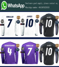 Free patches EUR 2017 Realed Madrided Top Best Thai AAA Qualit adult Full Soccer jersey 16 17 Home Away 3RD Shirt Free shipping3