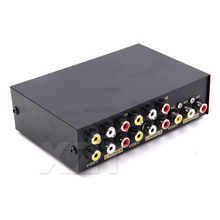 High Quality 2 4 8 ports Composite RCA AV Swithcer audio video selector switch for STB DVD HDTV