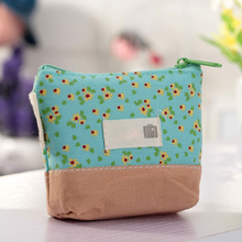 New Lovely Floral Women Girls Wallet Multicolor Coin Bag Purse Kid Gift Children's Purse Coins Pouch monedero Change Pouch