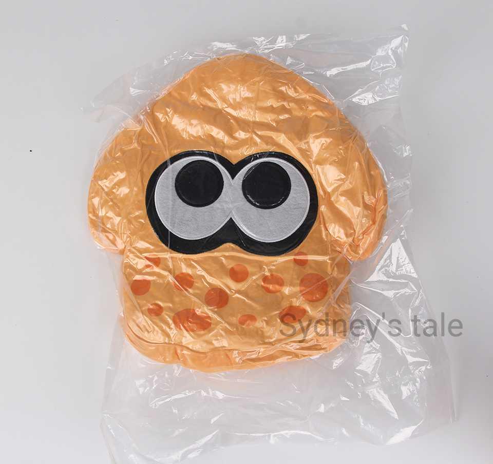 35CM Splatoon Plush Toy Soft body anime smiley emoji pillows Squid Plush Stuffed Doll car pillow toys hobbies toys for children