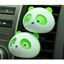 1pair NEW Product.Car-styling Panda Car Perfumes original Solid Air Freshener Air Conditioning Vent Flavoring In the Car perfume