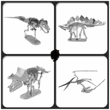 JWLELE Jurassic Park 4 styles Ancient overlord dinosaur jigsaw puzzles 3D Metal assembly model Souptoys Creative gift