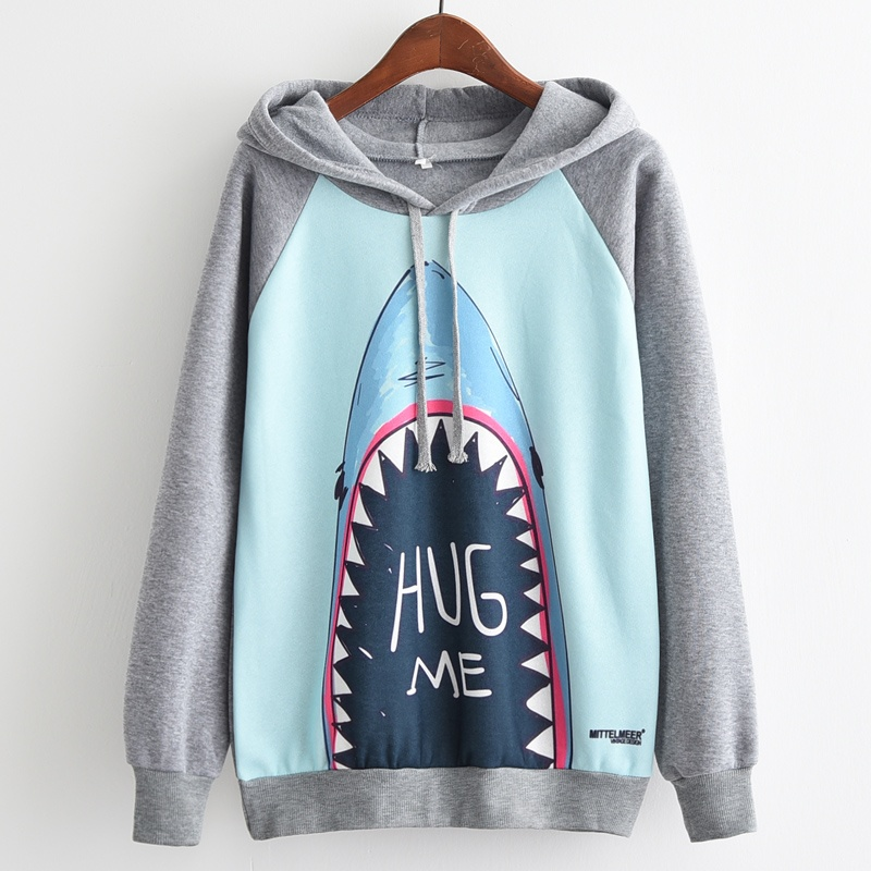 """Hug me Shark"" Shark Hoodie for women 2"