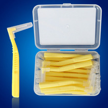 20Pcs L Shape Push-Pull Interdental Brush Oral Care Teeth Whitening Dental Tooth Pick Tooth Orthodontic Toothpick ToothBrush NA3(China)