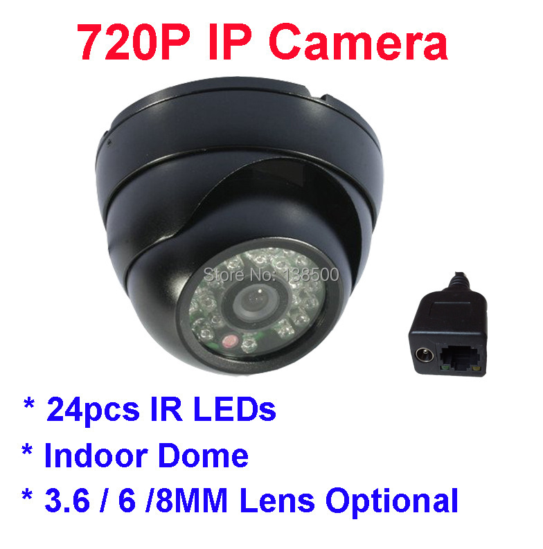 Wholesale 1/4 CMOS Mini 720P onvif night vision IR Dome ip camera Indoor for Home Security<br><br>Aliexpress