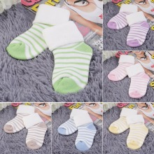Buy Thick warm children towel socks Striped Terry soft Baby Sock Newborn Floor Anti-slip Socks Girl Boy Short Socks cute colors for $1.12 in AliExpress store