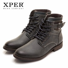 Size 41~46 Warm Fluff Winter Boots Russian Style Handmade Comfortable Men Winter Snow Boots # XHY11309BL(China)